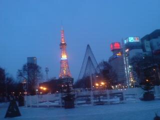 大通りからみたテレビ塔