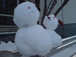 大通公園の雪だるまの図