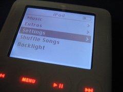 バッテリを換装した iPod の図