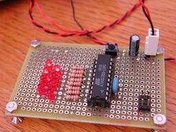 ナイトライダー回路を動かすの図