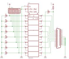 パラレルポートのテスト回路